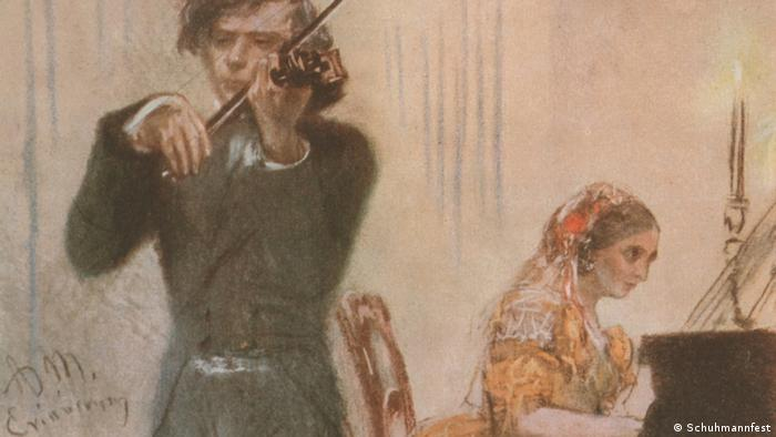 Bračni par Schumann u zajedničkom muziciranju