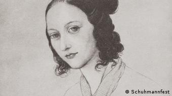 Illustration of Clara Schumann