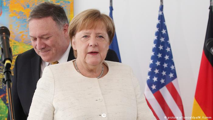 German Chancellor Merkel and American Secretary of State Pompeo