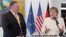 Deutschland Bundeskanzlerin Merkel und der US Außenminister Pompeo