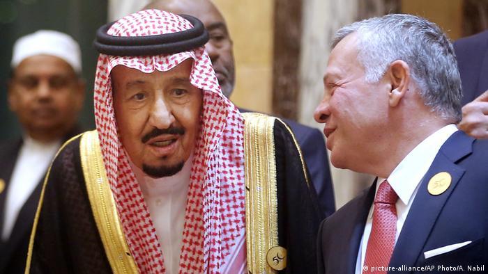 Saudi Arabia's king Salman und King Abdullah 2 of Jordan