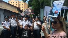 Armenien | Proteste in Erewan gegen den neuen Ministerpräsidenten Nikol Paschinjan und den amerikanischen Investor Georg Soros