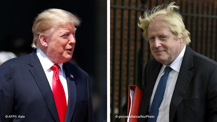 Bildkombo Trump Johnson
