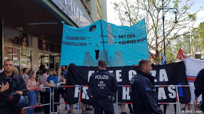 "Berlin - Demo zum Anti und Pro ""Quds Tag"" (DW/S. Islami)"