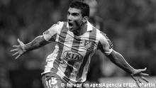 A file picture shows Atletico Madrid s midfielder Jose Antonio Reyes celebrating a goal against Inter Milan during their UEFA Super Cup 2010 soccer final match played at the Louis II stadium, in Monaco, 27 August 2010. Sevilla FC announced 01 June 2019, that Reyes, 35, died in a car accident in Seville when the vehicle he was off-road and burned. Jose Antonio Reyes, who currently played for Extremadura Fc, played for Sevilla FC, Real Madrid and Atletico de Madrid amongst other clubs. Soccer player Jose Antonio Reyes dies in car accident !ACHTUNG: NUR REDAKTIONELLE NUTZUNG! PUBLICATIONxINxGERxSUIxAUTxONLY Copyright: xALBERTOxMARTINx GRAF1906 20190601-636949935131726758