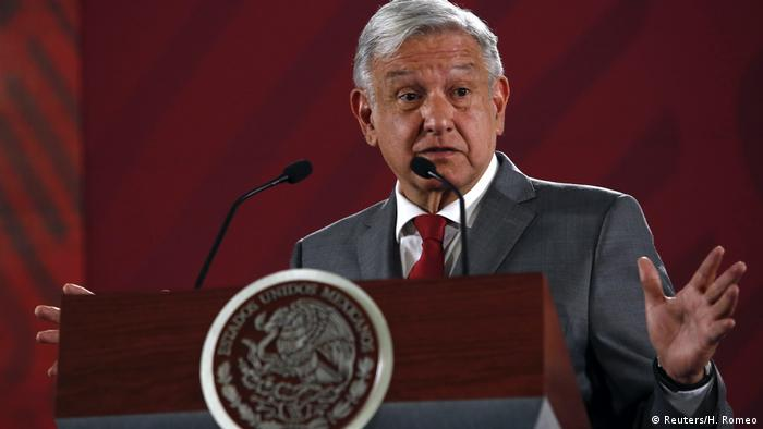 Mexiko-Stadt: Mexikos Präsident Andres Manuel Lopez Obrador im National Palace (Reuters/H. Romeo)