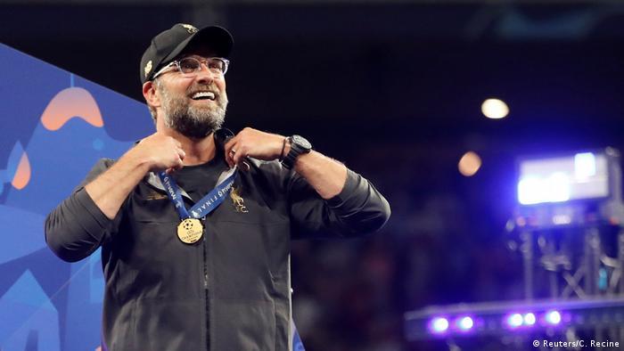 Jürgen Klopp celebrates Liveprool's 2019 Champions League final win