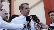 Griechenland Athen Oppositionsführer Kyriakos Mitsotakis
