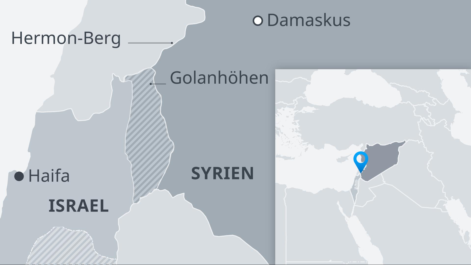 Infografik Karte Hermon-Berg DE