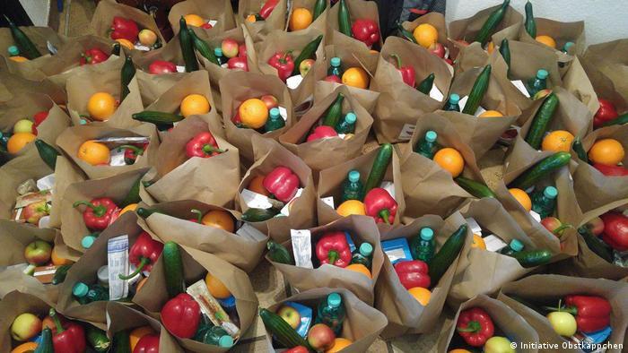 Obstkäppchen-Lebensmitteltüten