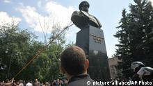 Ukraine Zerstörung Schukow Denkmal in Charkiw