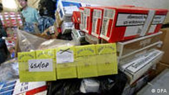 конфискованные контрабандные сигареты