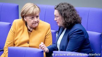Angela Merkel und Andrea Nahles