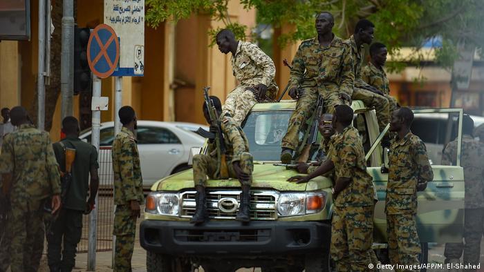 A military patrol in Sudan