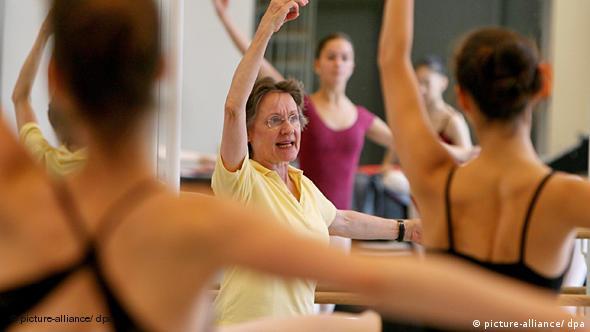 На занятии в гамбургской балетной школе