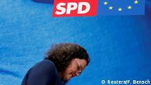 SPD Krise Andrea Nahles nach der EU Wahl in Berlin