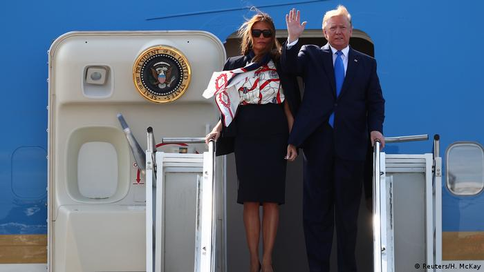 Donald and Melania Trump exit Air Force One (Reuters/H. McKay)