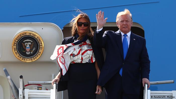 Donald Trump arrives in the UK, protests planned
