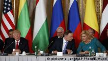 Drei-Meere-Initiative Treffen in Warschau Trump