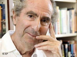 ** FILE ** In this Sept. 8, 2008 file photo, author Philip Roth poses for a photo in the offices of his publisher Houghton Mifflin, in New York. (AP Photo/Richard Drew, file)