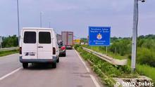 Grenze zwischen Serbien und Kroatien bei Erdut, Grenzübergang Erdut-Bogojevo