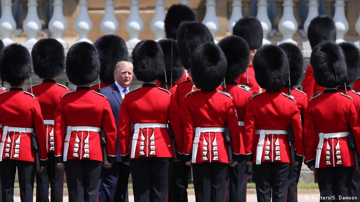 Donald Trump arrives in the UK to pomp and protest