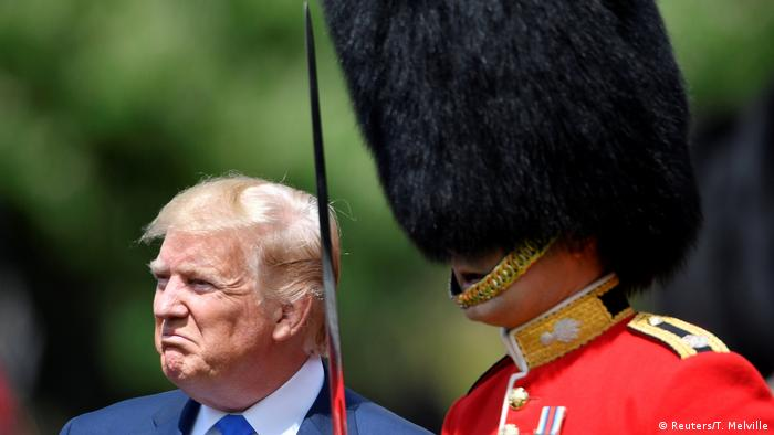 Trump talking trade in UK after day of pageantry