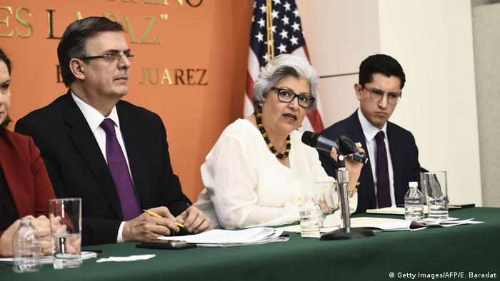 USA Mexiko Handelspolitik PK in Washington (Getty Images/AFP/E. Baradat)