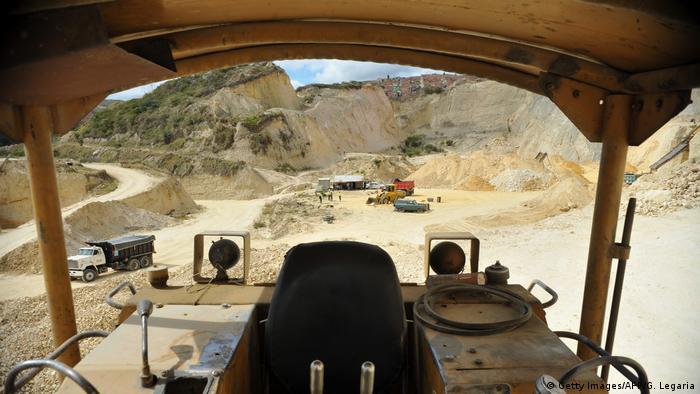 Kolumbien Sand- und Kiesabbau in Soacha