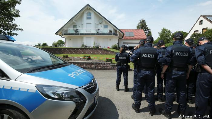 Police arrive at Lübcke's house