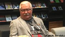 Polen Interview mit Lech Walesa in Danzig