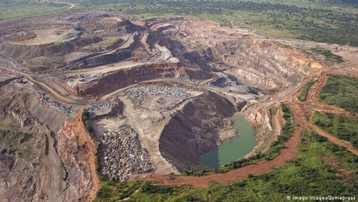 An impage of Nchanga Open Pit Mine
