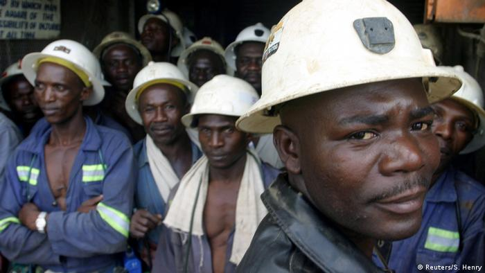 Mine Workers at Konkola Coper Mines in Chililabombwe (Reuters/S. Henry)