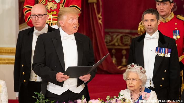 UK Besuch des US-Präsidenten Trump in Buckingham Palace (picture-alliance/empics/D. Lipinski)