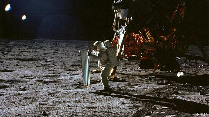 Aldrin on the lunar surface (NASA)
