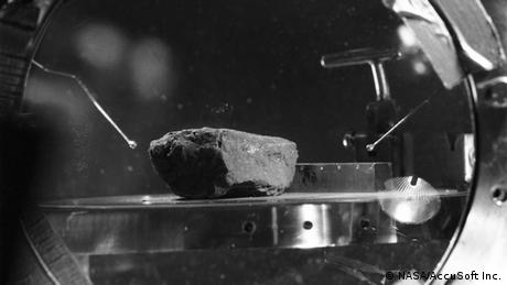One of the first lunar rock samples.