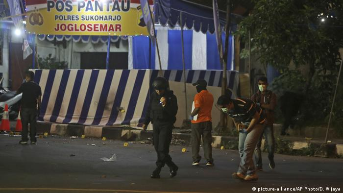 Indonesien Anschlag in Kartasura (picture-alliance/AP Photo/D. Wijaya)