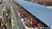 Bangladesch Dhaka Rückreise Stadtbewohner Eid-ul-Fitr Fest
