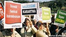 Türkei Amasra Dorfbewohner protestieren gegen Wärmekraftwerk