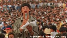 Peking 1989 Studentenproteste Pro Demokratie Wang Dan
