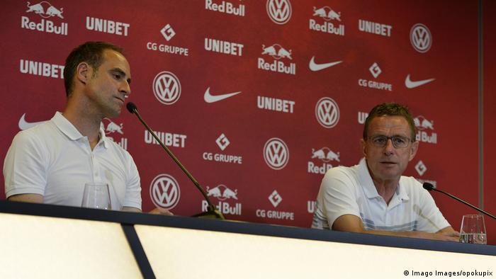 RB Leipzig Pressekonferenz Oliver Mintzlaff und Ralf Rangnick