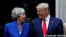 U.S. President Donald Trump meets Britain's Prime Minister Theresa May at Downing Street as part of his state visit in London, Britain, June 4, 2019. REUTERS/Peter Nicholls
