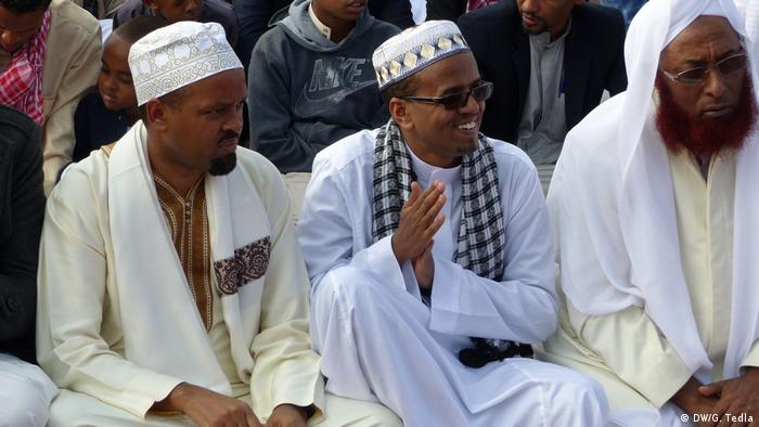 Äthiopien Addis Abeba Muslime Feiern Eid Al-Fitr