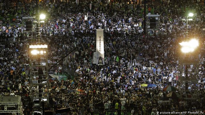 Hongkong Gedenken zum 30. Jahrestag des Tiananmen-Massakers (picture-alliance/AP Photo/V. Yu)