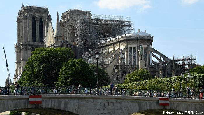 Notre-Dame is mainly a construction site in the heart of Paris