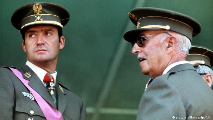 Franco (r.) 1974 mit dem späteren König Juan Carlos