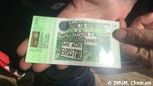 In Bristol, members of the Green Party introduced a local currency to become more environmentally-friendly. Fotograf: Melissa Chemam, DW Korrespondentin in Bristol.