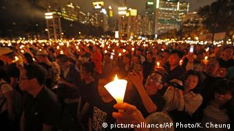 Hongkong Gedenken an Massaker von Tiananmen in Peking 1989