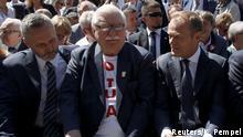 Polen Danzig | 30. Jahrestag erste freie, demokratische Wahl | Walesa & Walesa & Tusk