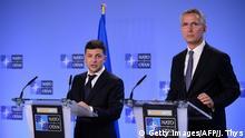 Brüssel PK ukrainischer Präsident Wolodymyr Selenskyj und Jens Stoltenberg